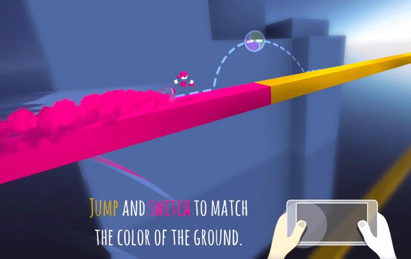 Screen z gry mobilnej Chameleon Run