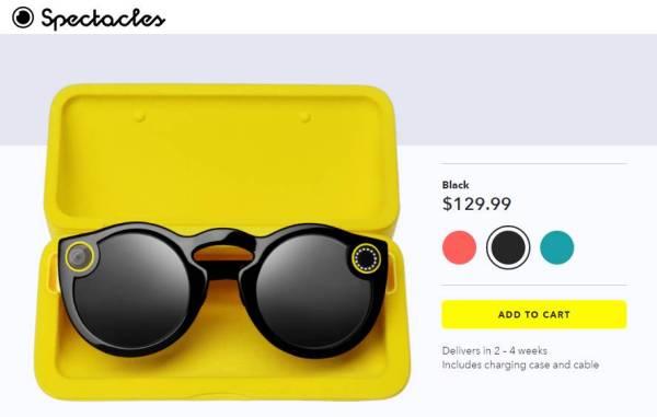 Spectacles za 130 dolarów w sklepie online