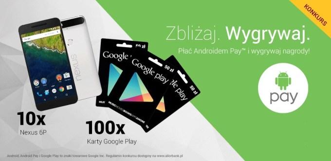 Konkurs Zbliżaj. Wygrywaj. dla użytkowników Android Pay w Alior Banku