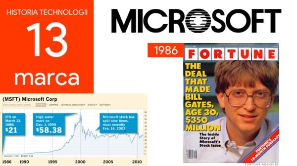 [13 marca] Dzień w historii technologii