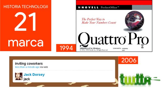 21 marca - Dzień w historii technologii
