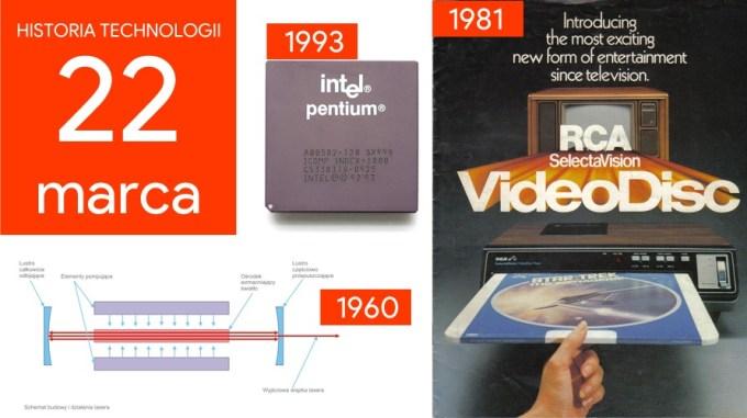22 marca - Dzień w historii technologii