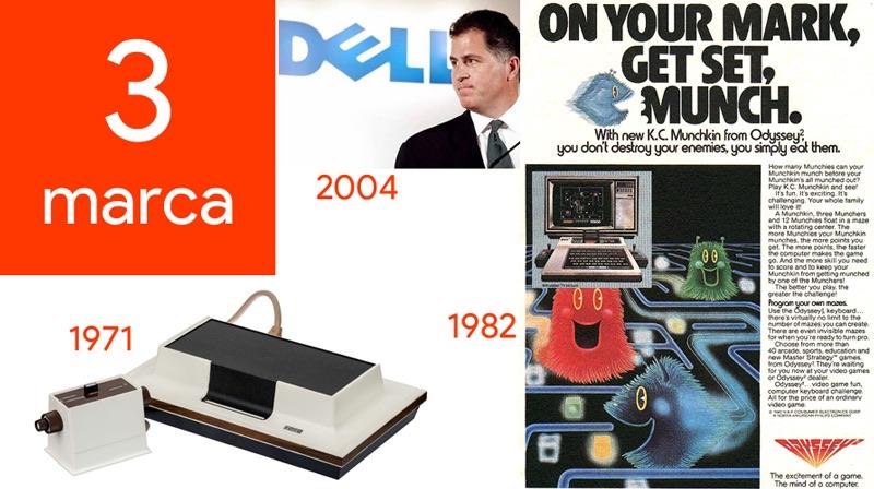 3 marca - Dzień w historii technologii