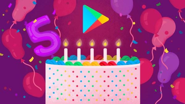 Sklep Google Play obchodzi dzisiaj 5. urodziny!