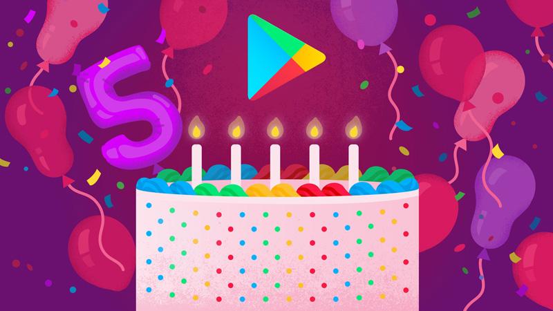 5. urodziny sklepu Google Play