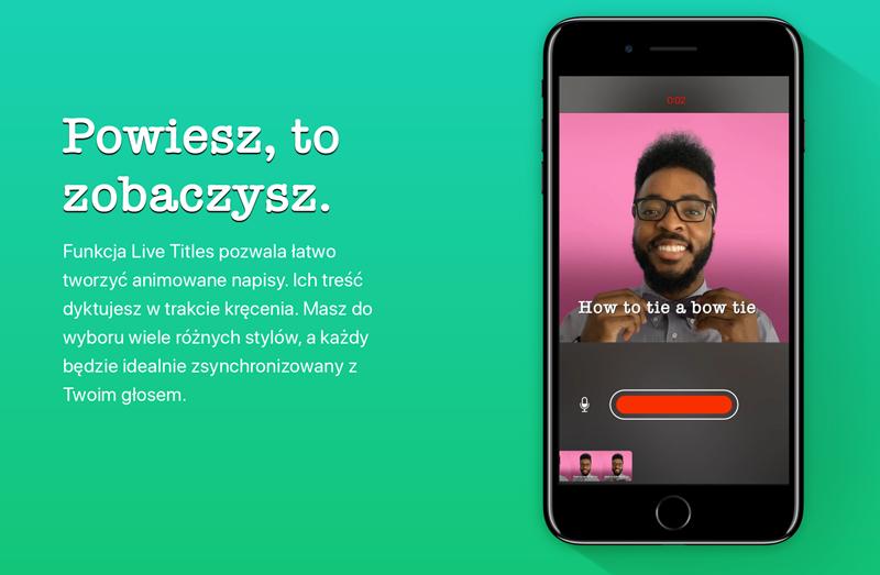 Live Titles w aplikacji Clips