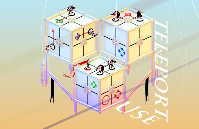 Euclidean lands (screen z gry na iOS-a)