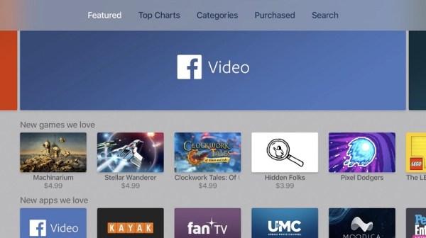 Aplikacja Facebook Video dostępna na Apple TV