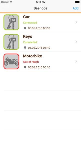 Beenode - aplikacja mobilna (screen)