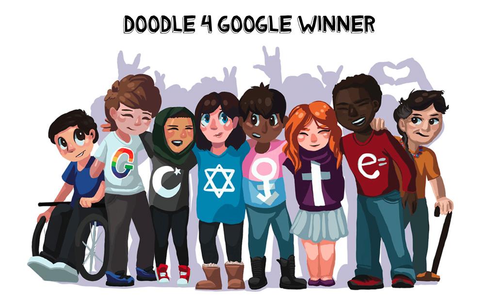 Zwycięska praca w konkursie Doodle 4 Google 2017, autor Sarah Harrison