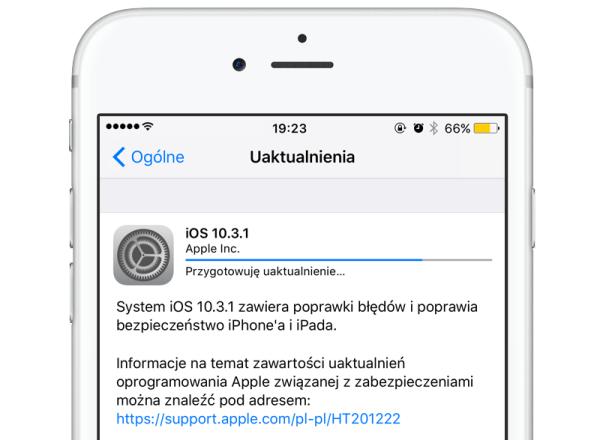 Apple udostępniło iOS 10.3.1
