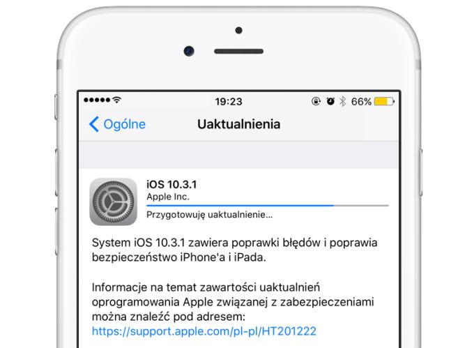 iOS 10.3.1 w trybie OTA