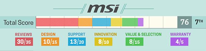 Szczegółowa ocena MSI (2017)