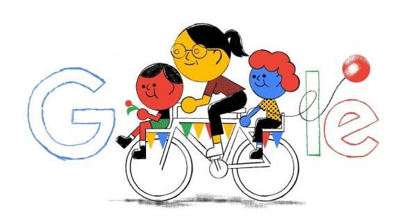 Doodle Google z okazji Dnia Matki od Tymka Jezierskiego