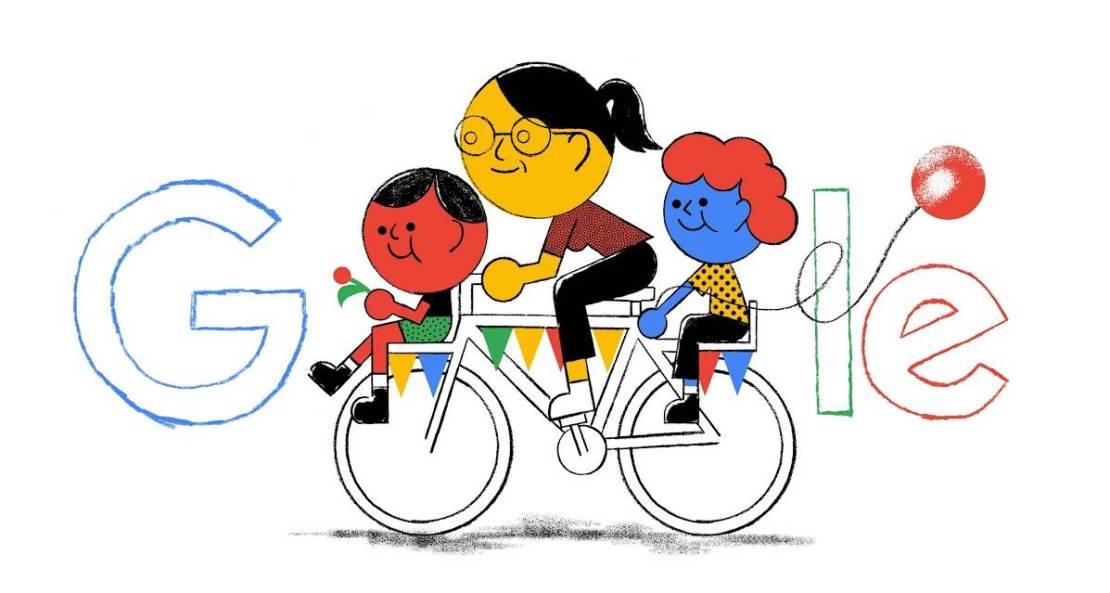 Google doodle z okazji Dnia Matki narysowany przez Tymka Jezierskiego