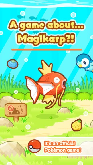 Pokémon: Magikarp Jump - screen z gry