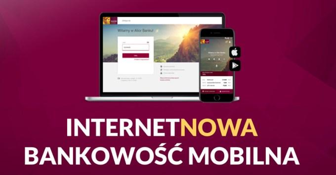 InternetNOWA bankowość mobilna Alior Banku