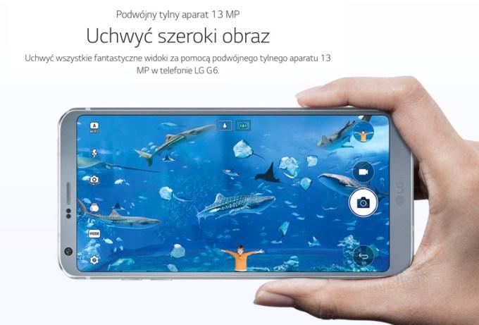 LG G6 13 MP aparat