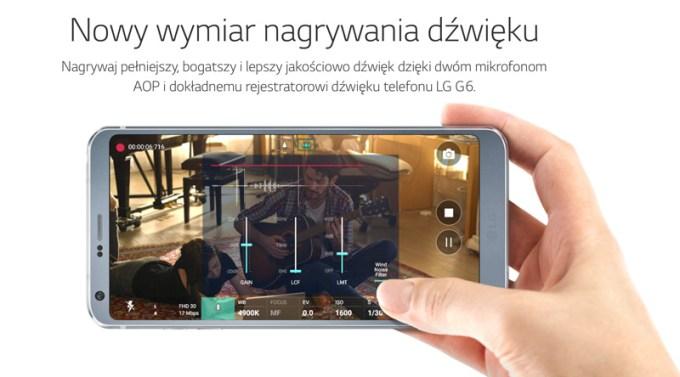 Nowy wymiar nagrywania dźwięku w LG G6
