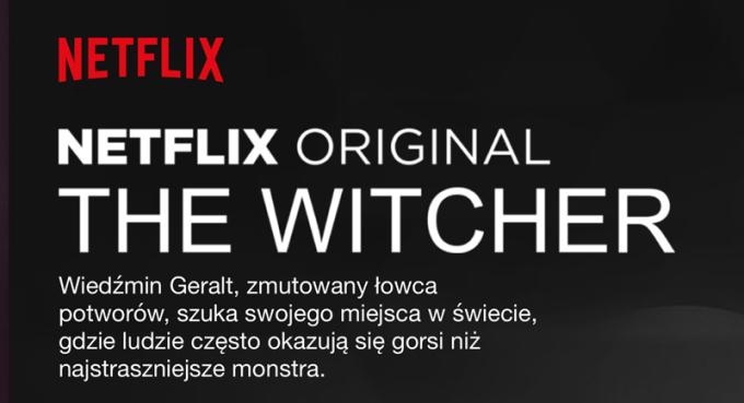 """Opis serialu """"The Witcher"""" w serwisie Netflix"""