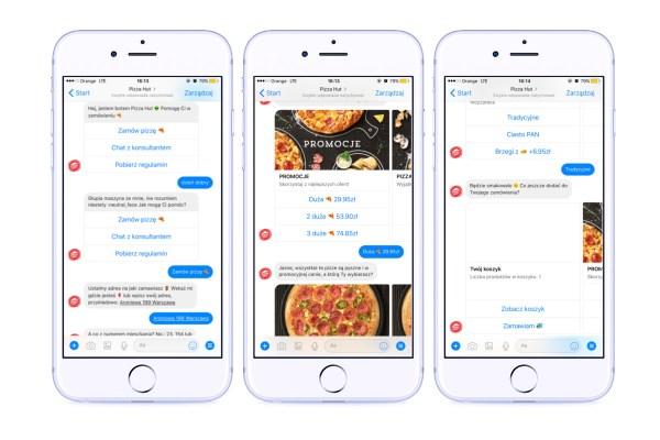 Teraz zamówisz pizzę przez chatbota na Facebooku!