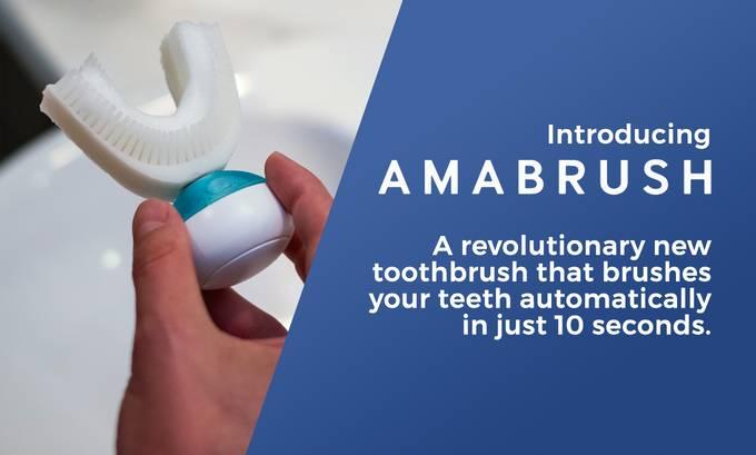 Amabrush - automatyczna szczoteczka do zębów (10 sekund mycia)