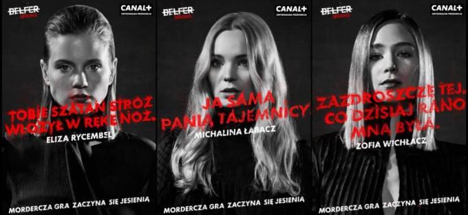 Plakaty teaserowe serialu kryminalnego BELFER 2