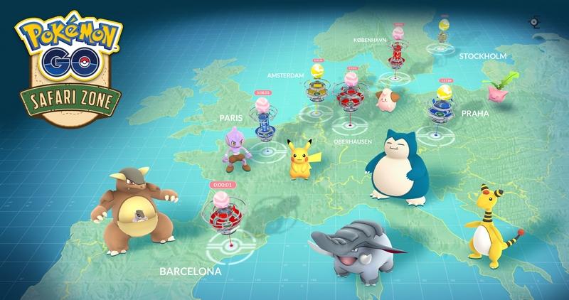 Pokemon Go Europe Safari Zone (2017)