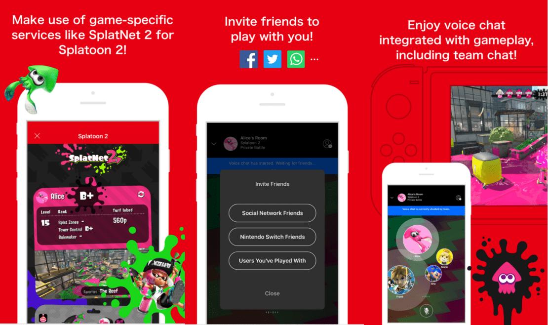Nintendo Switch Online - aplikacja mobilna (screen)