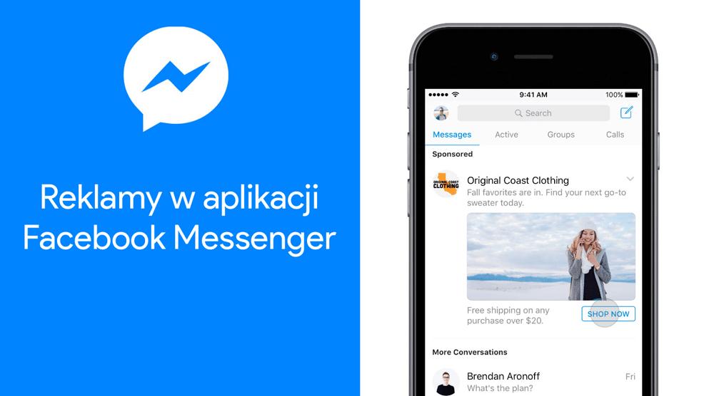 Reklamy w aplikacji mobilnej Facebook Messenger