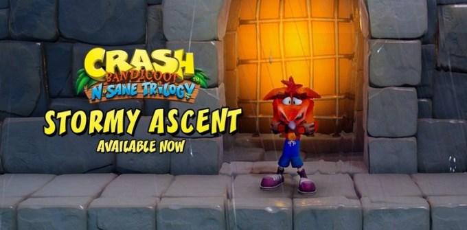 Crash Bandicoot™ N. Sane Trilogy - poziom Stormy Ascent