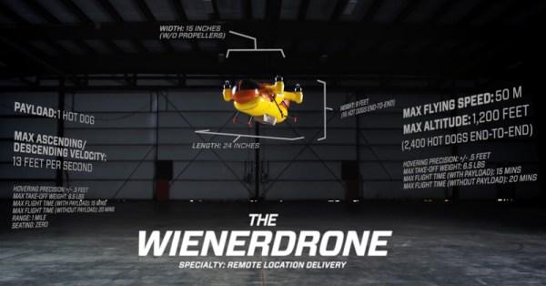 Oscar Mayer Hot Dogs będą dostarczane dronem