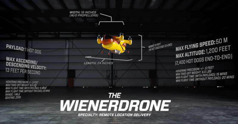 WienerDrone Oscar Mayer's Hot Dogs