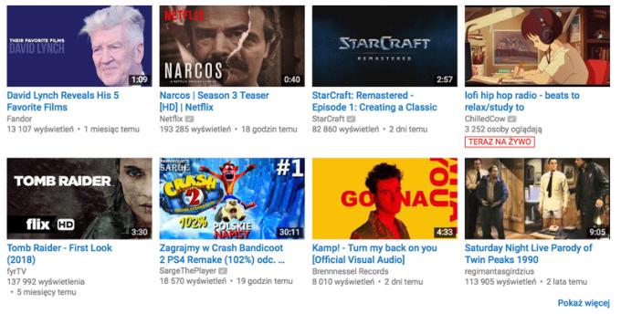 Animowane podglądy filmów na YouTube'ie