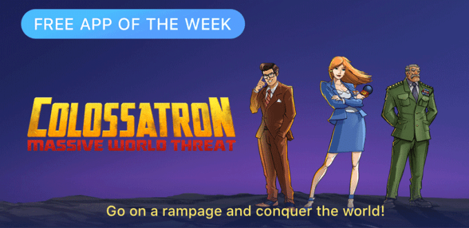 Clolossatron od Halfbrick - Free App of the Week (App Store)