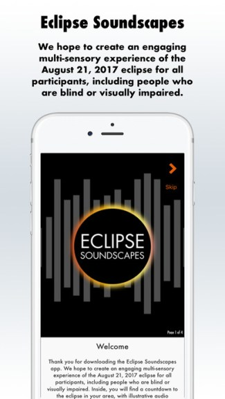 Eclipse Soundscapes (screen iOS)
