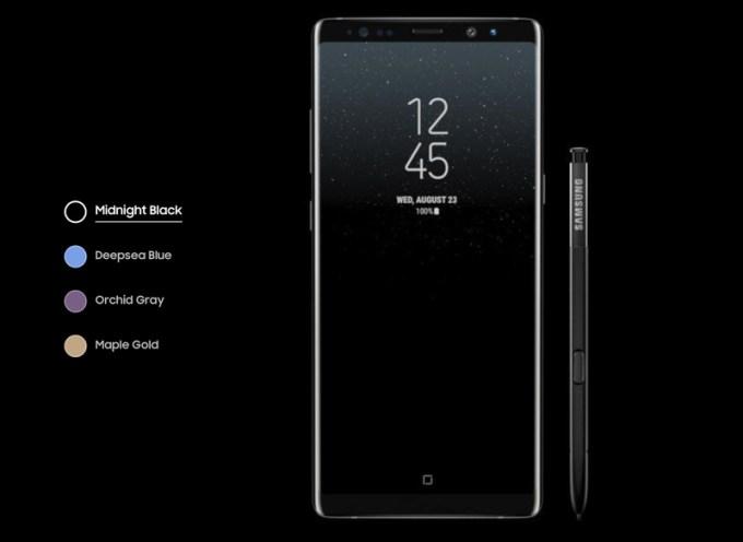 Galaxy Note8 i rysik S Pen