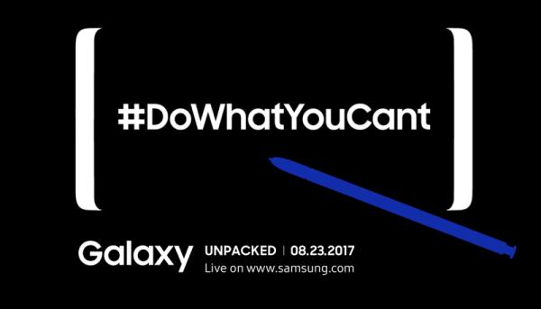 Samsung udostępnił nową zapowiedź Galaxy Note 8