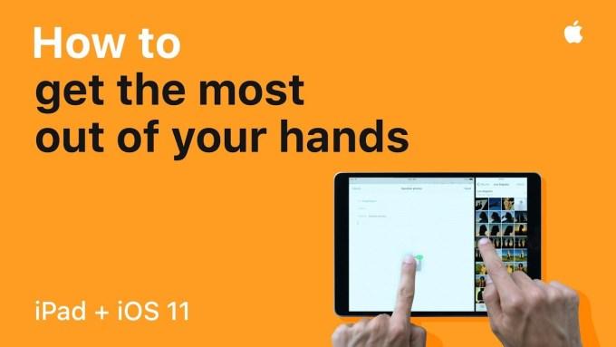 Filmy instruktażowe, jak wyciągnąć więcej z iPada ipod iOS-em 11?