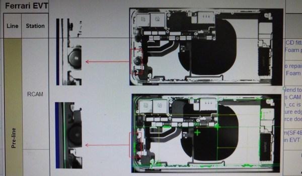 Schemat iPhone'a 8 z rzekomym bezprzewodowym ładowaniem