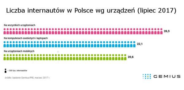 Aktywność polskich internautów w lipcu 2017 r.