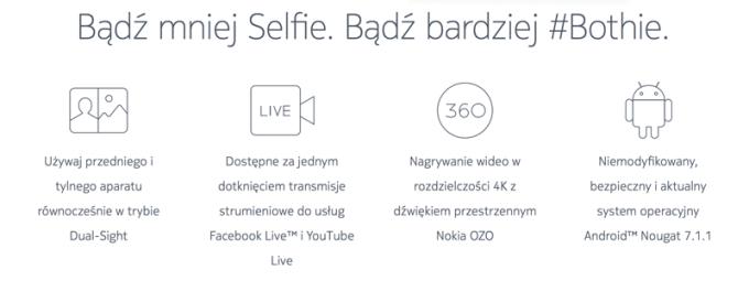 Nokia 8 - funkcje