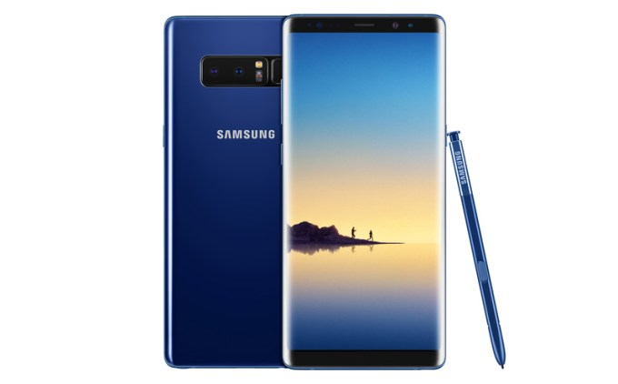 Samsung Galaxy Note8 - niebieski