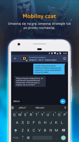 Aplikacja mobilna Blizzard Battle.net (screen)