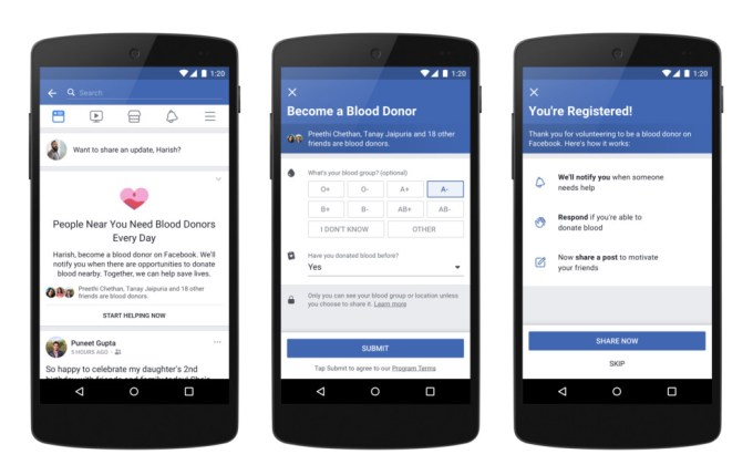 Fcebook Indie - dawcy krwi - aplikacja