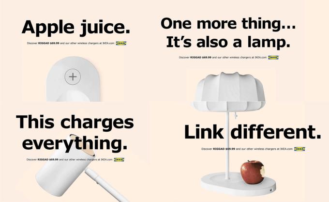 Kampania mebli i urządzeń z ładowarką Qi - Apple