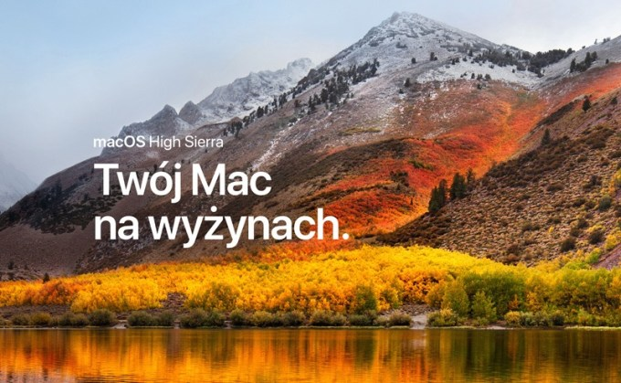 Uaktualnienie systemu macOS High Sierra 10.13