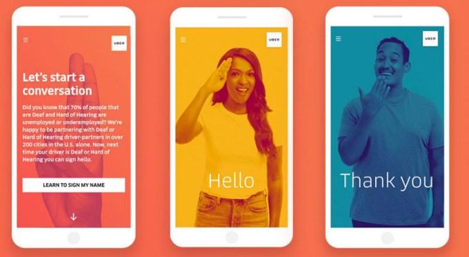 Rozmawiaj z głuchym kierowcą w języku migowym (nowa funkcja w aplikacji mobilnej Uber)