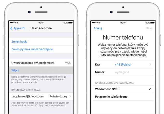 Uwierzytelnienie dwupoziomowe pod iOS 11 i macOS High Sierra - uaktualnienie