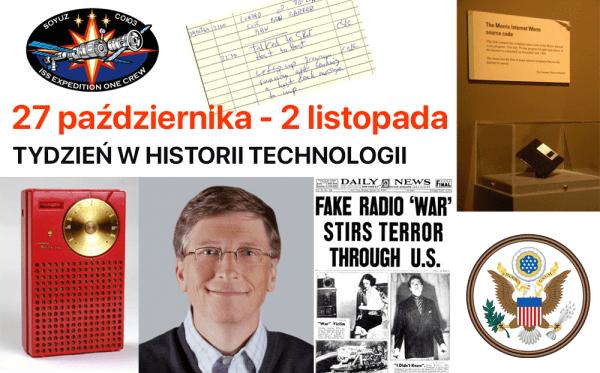 [27 paź – 2 lis] Tydzień w historii technologii